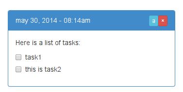 Task display in notes app