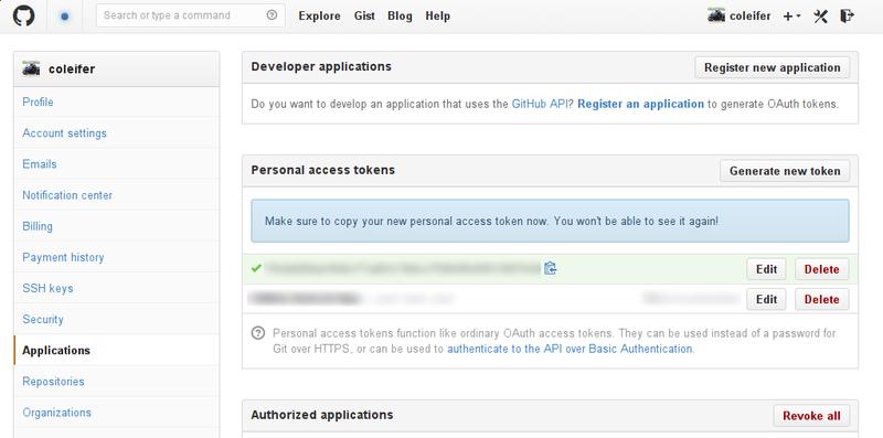 Gist Github access token